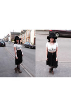 black Topshop hat - black Primark skirt