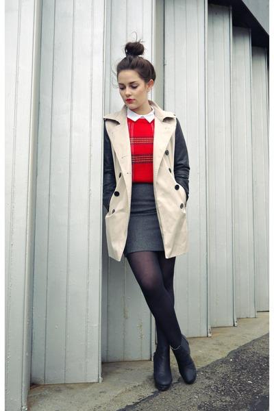 Jovonna jacket - Sheinside sweater - H&M skirt