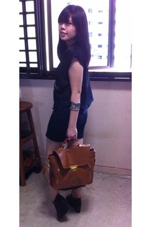 boxy Tailsman bag - metallic rubi bracelet