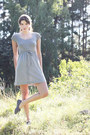 Silver-cotton-indiska-dress-navy-polka-dot-monki-flats