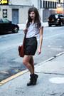Black-army-vagabond-boots-periwinkle-pinstriped-monki-shirt-dark-brown-leath