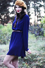 Navy-sheer-chiffon-monki-dress-mustard-beret-monki-hat