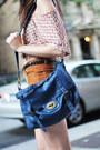 Blue-forever-21-bag-burnt-orange-corduroy-forever-21-shorts-blue-flower-prin