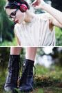 Peach-romwe-shirt-black-leather-nilson-boots