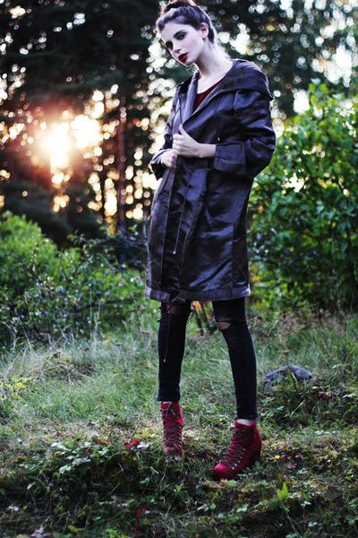 gray parka sofifi jacket - black hudson jeans jeans