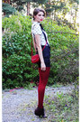 Crimson-leather-nilson-boots-white-h-m-shirt-ruby-red-leather-bag-indiska-ba
