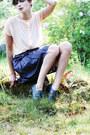 Dark-gray-brogues-vintage-shoes-dark-gray-silk-djuna-paris-skirt-light-pink-