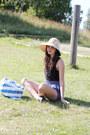 Neutral-straw-beach-shop-in-barbados-hat-blue-striped-beach-ikea-bag-navy-fl