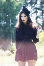5b2a9af6710 ... Black-sans-noblesse-dress-black-veiled-vintage-hat-