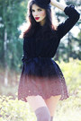 5e7b0cf6d93 ... Black-sans-noblesse-dress-black-veiled-vintage-hat- ...