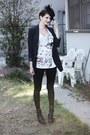 Black-veiled-vintage-hat-navy-forever-21-blazer-black-sequined-forever-21-ti