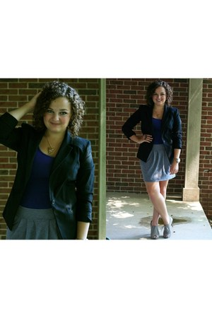 black Target blazer - purple Target top - heather gray Forever 21 skirt