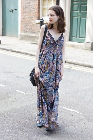 paisley maxi new look dress