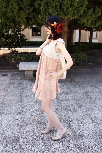 off white asos dress - eggshell next heels