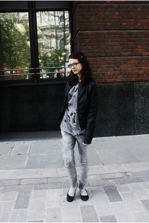 silver Pimkie jeans - black Pimkie jacket - silver River Island socks