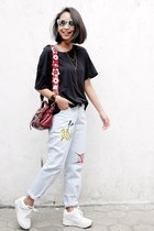 Mulberry bag - jeans sammydress jeans - white sammydress sneakers