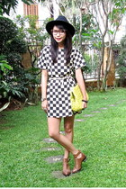 checkered La delle clothing dress