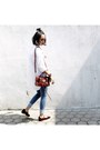 White-shop-at-velvet-shirt-mini-city-balenciaga-bag-mary-janes-zara-flats