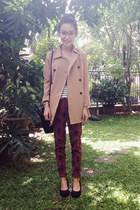 Cloth Inc coat - Celine bag - Zara pants