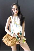 iRoo bag - floral iRoo shorts - GLASSESSHOP sunglasses - asymmetrical iRoo top