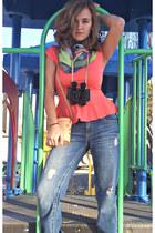 peplum Charlotte Russe shirt - chunky heel Charlotte Russe boots