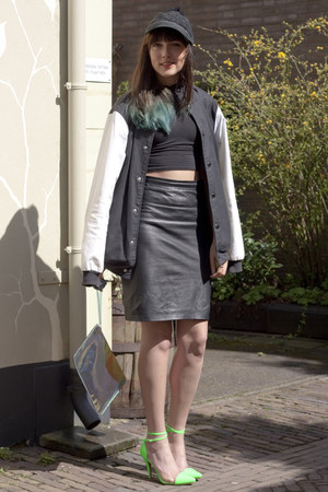 Mango skirt - Adidas Originals jacket - H&amp;M Trend bag - hippe-schoenennl heels