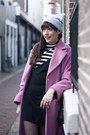 Vagabond-shoes-vintage-dress-marks-spencers-coat-h-m-hat-h-m-bag