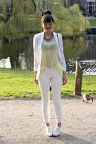Topshop necklace - maison martin margiela X H&M jeans - Mango blazer