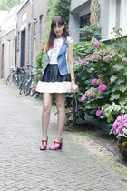 skater skirt asos skirt - biker vest warehouse jacket