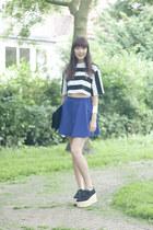 Topshop shirt - Monki bag - Topshop skirt - Topshop wedges
