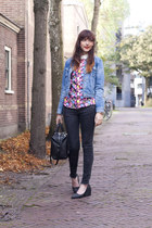 Topshop sweater - Levis jacket - Topshop bag - Cheap Monday pumps