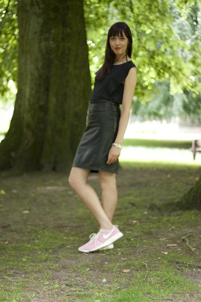 H&M Trend shirt - Mango skirt - nike sneakers - asos bracelet