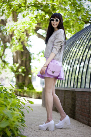 asos bag - OASAP skirt - asos heels