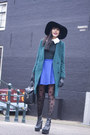 Chicnova-dress-h-m-trend-coat-h-m-hat-monki-tights-topshop-skirt