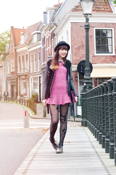 Dr Martens shoes - OASAP dress - House of Holland stockings