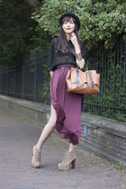 Zara skirt - Primark shirt - asos bag - Jeffrey Campbell heels