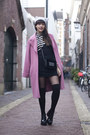 Vagabond-shoes-vintage-dress-marks-spencers-coat-h-m-hat-h-m-bag