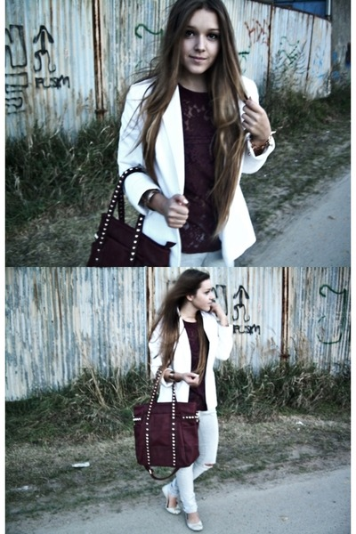 white Secondhand blazer