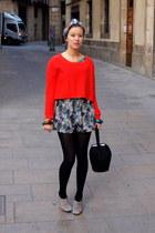Uterque bag - H&M jumper - H&M romper - vagabond heels