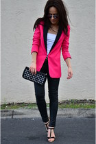 Mango purse - Zara shoes - romwe blazer - Zara pants