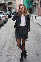 silver Zara shorts