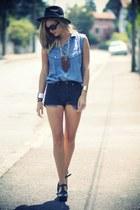 navy Lacoste blouse