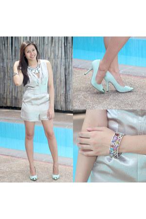 silver Topshop romper - rainbow Pierre Cardin bracelet