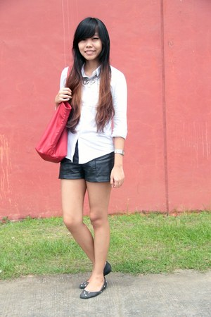 Mango bag - H&M shorts - thrited flats - Mango top