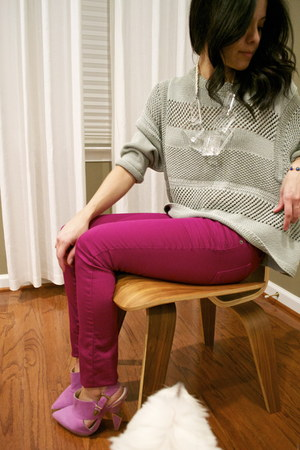 Topshop boots - Mossimo jeans - H&M Trend sweater - Michelle Montreal necklace