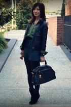 unknown via Crossroads shorts - asos boots - unknown jacket - Prada bag