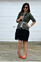 Gap heels - thrifted dress - H&M Kids jacket - H&M shirt