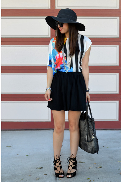 floppy hat Target hat - Zara shirt - foley & corinna bag - Zara heels