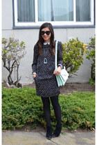 alexis bittar necklace - Zara dress - camel H&M jacket