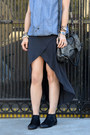 Matiko-shoes-high-low-hem-zara-dress-chambray-derek-lam-x-kohls-jacket